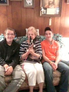Boys reunited Boston Terrier with Senior Owner