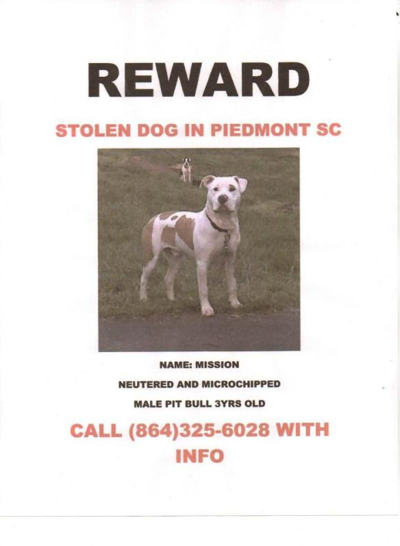 Mission stolen in Piedmont South Carolina