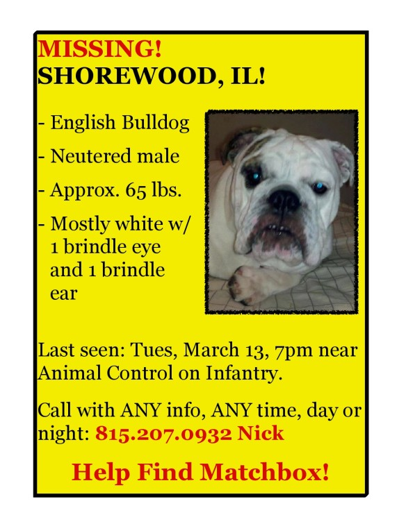 Matchbox missing in Shorewood Illinois