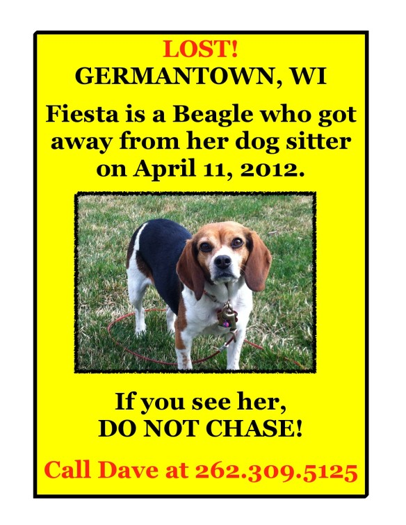Fiesta missing in Germantown Wisconsin